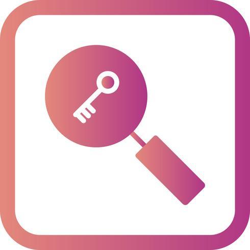 Vektor-Schlüsselwort-Suchsymbol