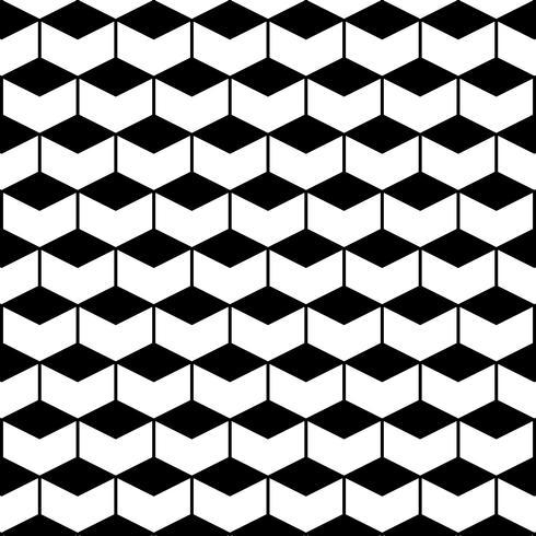 Seamless Pattern med Hexagons vektor