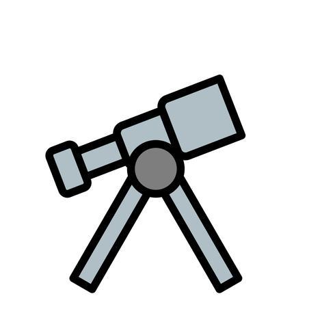 Icona di vettore del telescopio