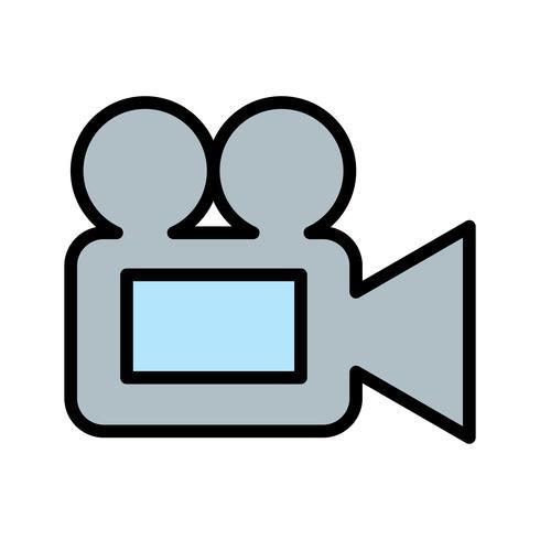 Icona della videocamera vettoriale