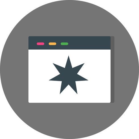 Ícone de qualidade de página de vetor