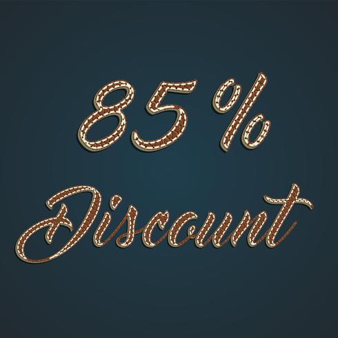Realistic leather percentage set, vector illustration