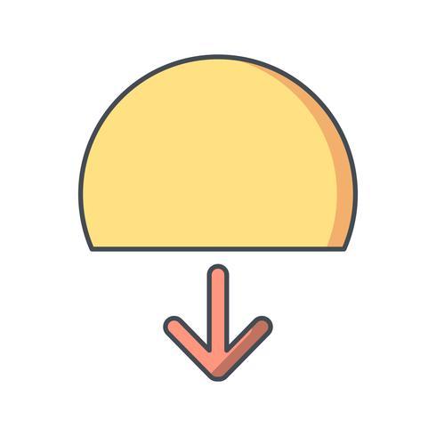 Icona di vettore del tramonto