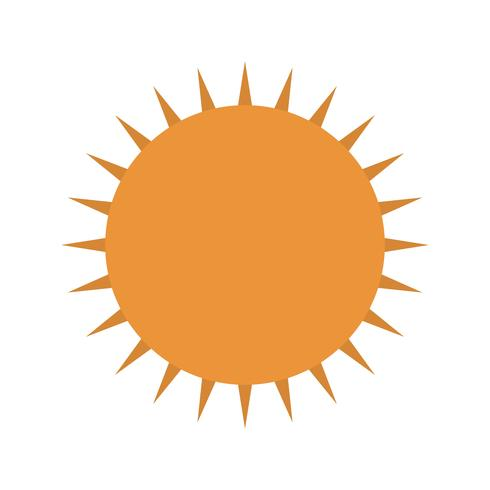 Sol, vetorial, ícone