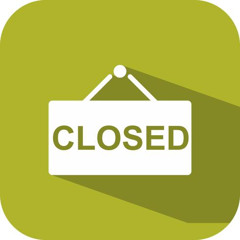 Vektor Closed Sign Icon