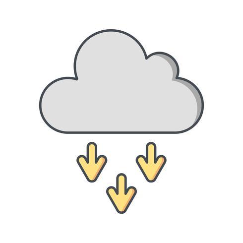 Icône de vecteur de présipitation