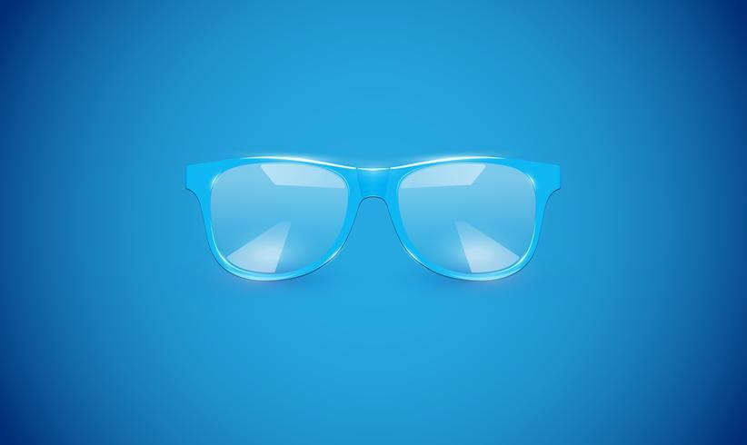 Altas gafas detalladas sobre fondo de colores, ilustración vectorial vector