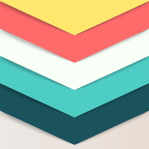 Retro papieren lay-out, vectorillustratie