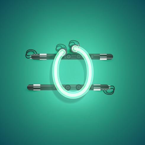 Personnage détaillé néon d'un ensemble, illustration vectorielle vecteur