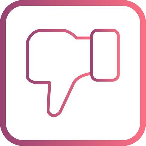 Dislike Vector Icon