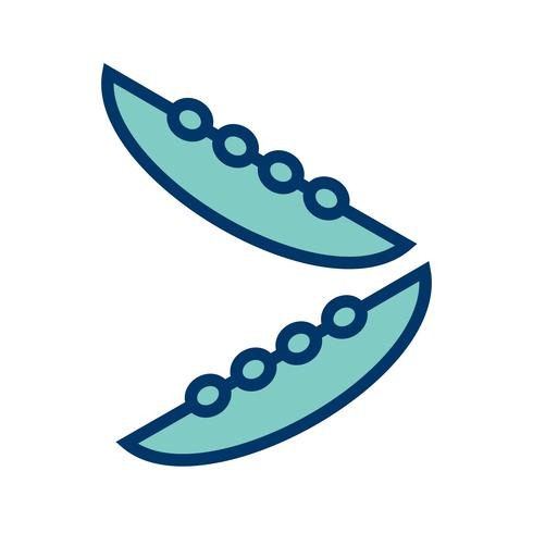 Icône de haricots de vecteur