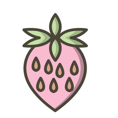 Icona di fragola vettoriale