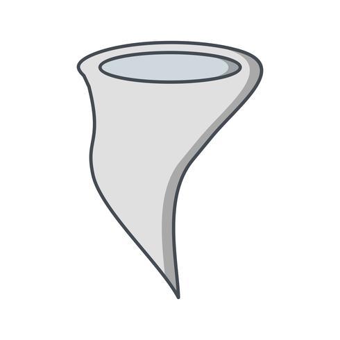 Ícone de vetor de tornado