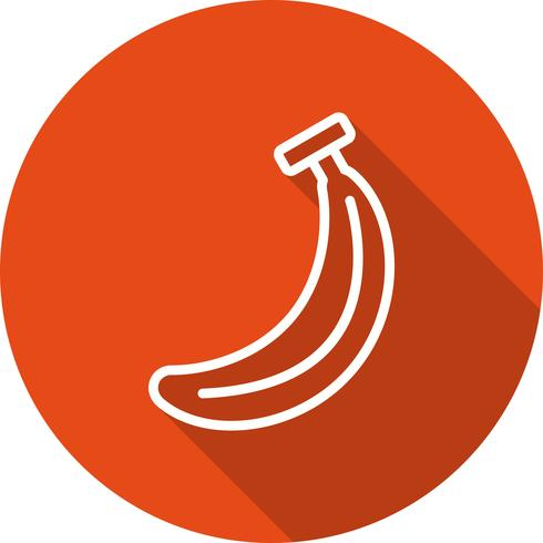 Icône de banane de vecteur