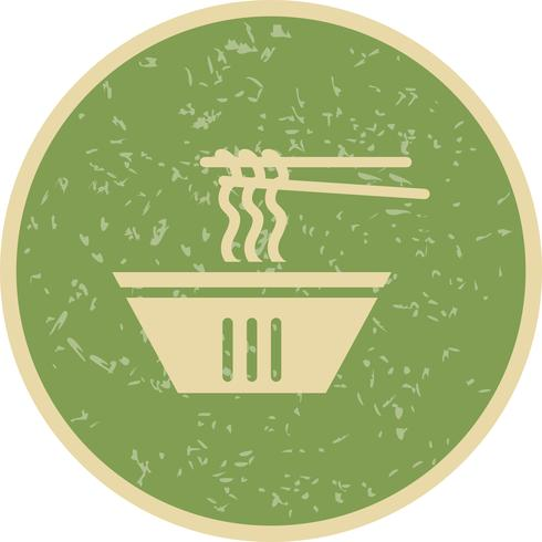 Icona di tagliatelle vettoriale