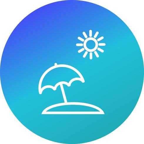 Icona di vettore dell'ombrello di spiaggia