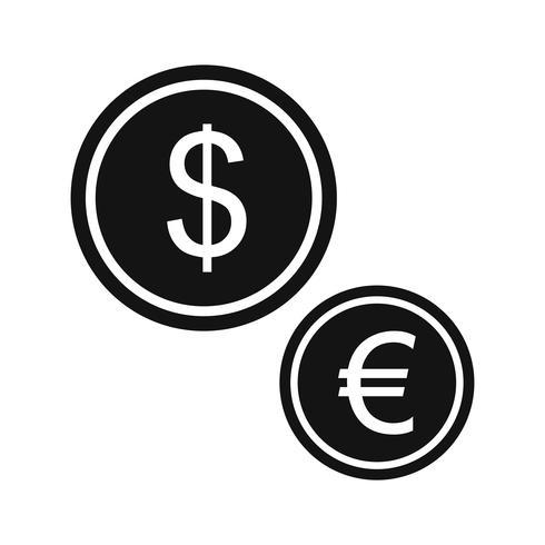 Vektor valutor ikon