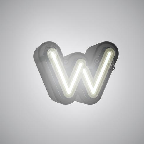 Personnage réaliste néon d'un ensemble avec console, illustration vectorielle vecteur