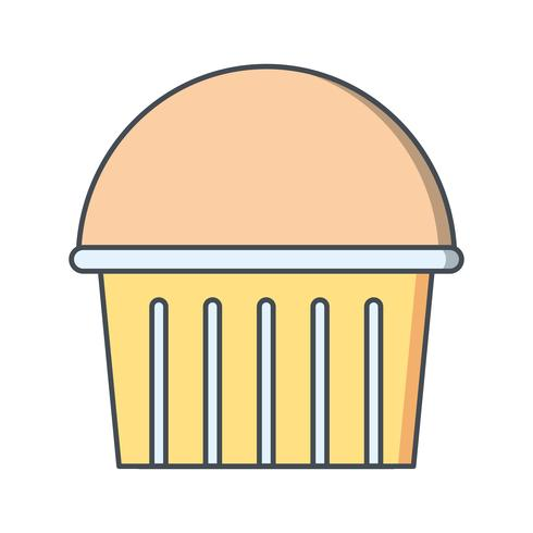 Icône de cupcake de vecteur