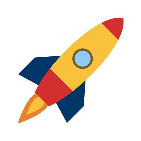 Icona di vettore di nave spaziale