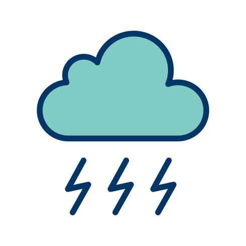 Icona di vettore di tempesta