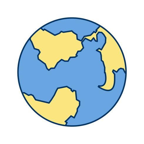 Icono de vector de la tierra