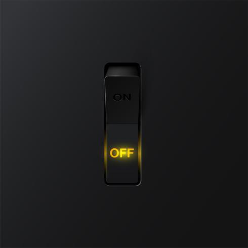 Interrupteur réaliste (OFF), illustration vectorielle