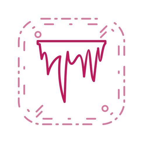 icône de vecteur de glaçon