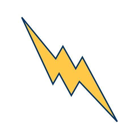Lightning Button Vector Icon