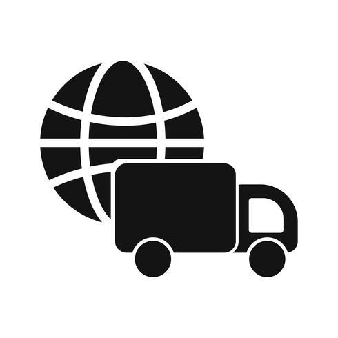 Vector de icono de entrega global