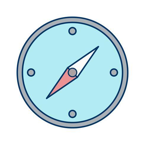 Icône de boussole de vecteur