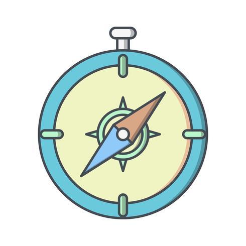 Ícone de vetor de bússola