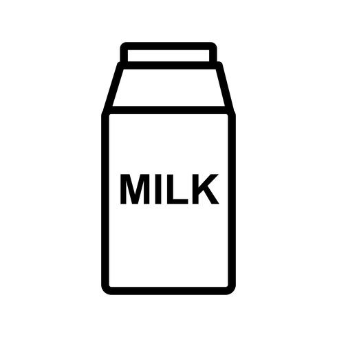 Vector icono de leche