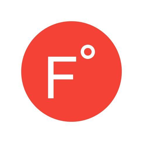 Icono de Vector de Fahrenheit