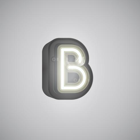 Personnage réaliste néon d'un ensemble avec console, illustration vectorielle
