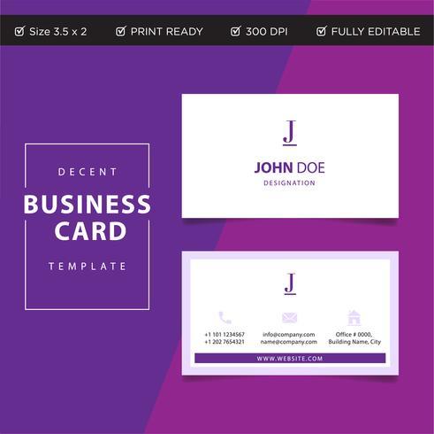 La progettazione di concetto corporativa professionale del biglietto da visita, stampa di vettore pronta