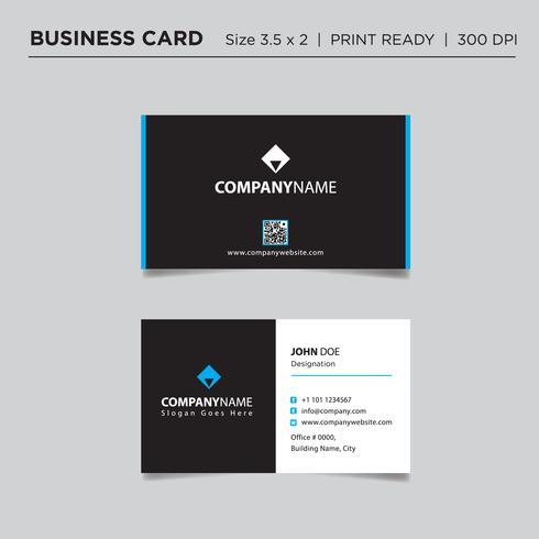Diseño de concepto profesional de la tarjeta de visita, ilustración vectorial abstracto vector