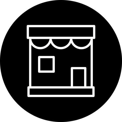 Vector icono de tienda