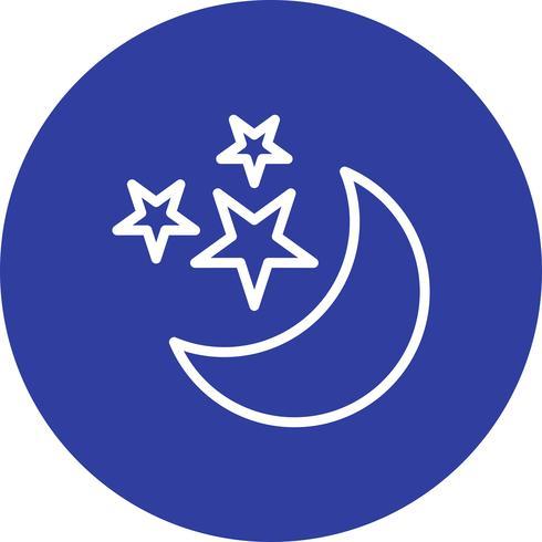 Luna y estrellas Vector icono