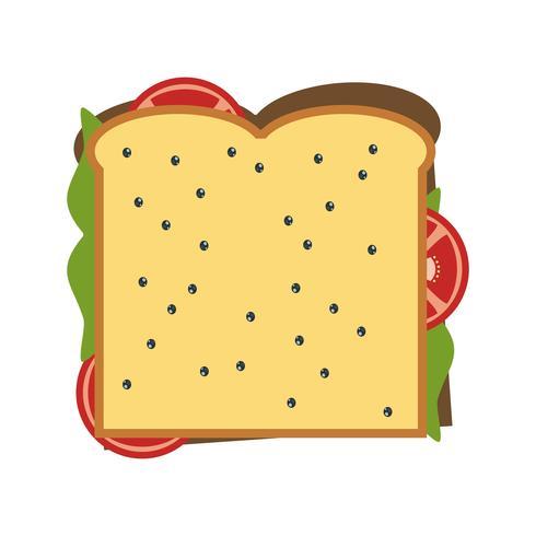 Icona del panino vettoriale