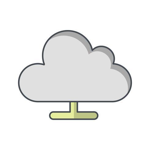 cloud computing vector pictogram