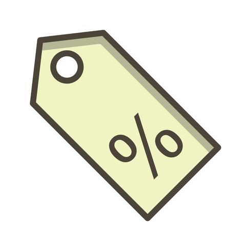 Icona di sconto vettoriale