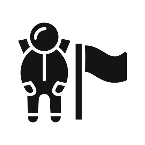 Man With Flag Vector Icon