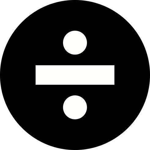 Divide el icono del vector