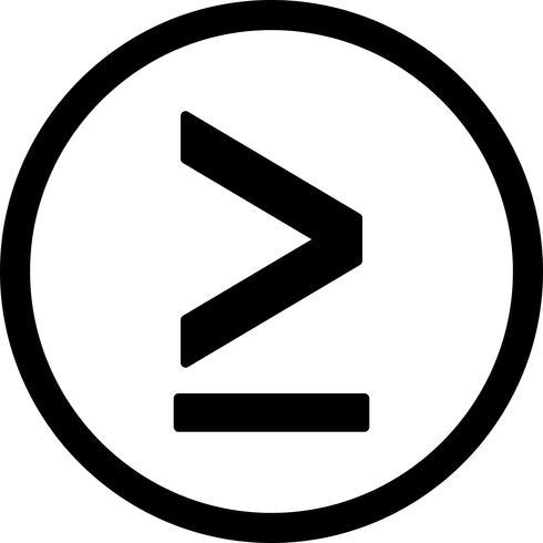 större vektor ikonen