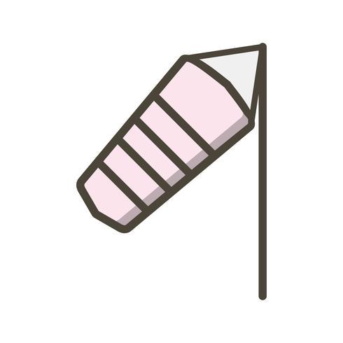 Winderig Vectorpictogram