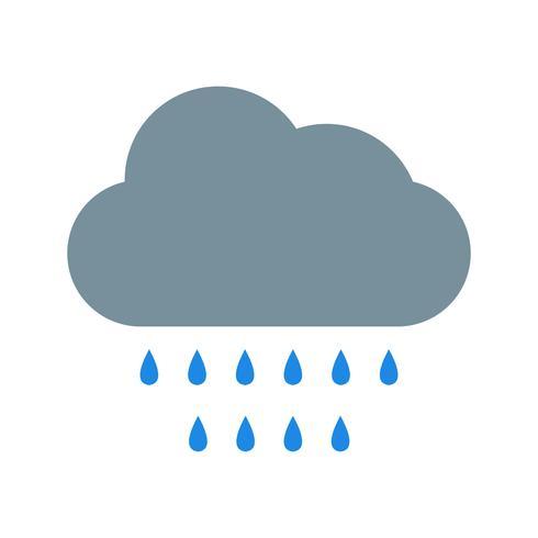 Ícone de vetor de chuva