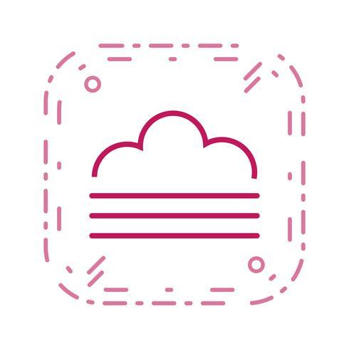 Icono de vector de niebla