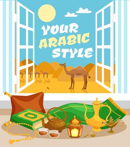 Arabic Culture Poster vector