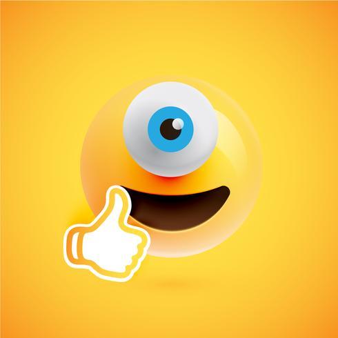 Emoticon de alta detalhado de um olho, ilustração vetorial
